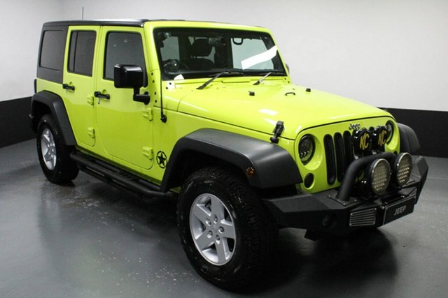 Used Jeep Wrangler JK MY17 Unlimited Sport Cardiff, 2016 Jeep Wrangler JK MY17 Unlimited Sport Green 6 Speed Manual Softtop
