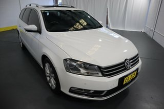 2013 Volkswagen Passat Type 3C MY13.5 118TSI DSG White 7 Speed Sports Automatic Dual Clutch Wagon.