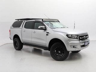 2017 Ford Ranger PX MkII MY18 XLT 3.2 (4x4) Silver 6 Speed Automatic Double Cab Pick Up.