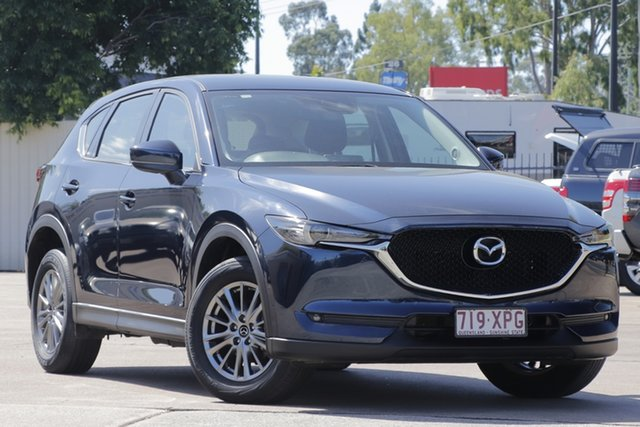Used Mazda CX-5 KF2W7A Maxx SKYACTIV-Drive FWD Sport Bundamba, 2017 Mazda CX-5 KF2W7A Maxx SKYACTIV-Drive FWD Sport Deep Crystal Blue 6 Speed Sports Automatic
