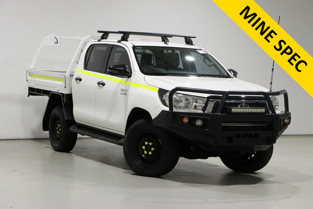 Used Toyota Hilux GUN126R MY19 SR (4x4) Bentley, 2018 Toyota Hilux GUN126R MY19 SR (4x4) White 6 Speed Automatic Double Cab Chassis