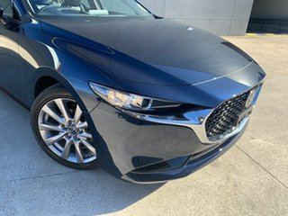 2021 Mazda 3 BP2S7A G20 SKYACTIV-Drive Touring Deep Crystal Blue 6 Speed Sports Automatic Sedan