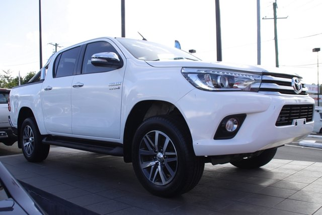 Used Toyota Hilux GUN126R SR5 Double Cab Mount Gravatt, 2015 Toyota Hilux GUN126R SR5 Double Cab White 6 Speed Sports Automatic Utility