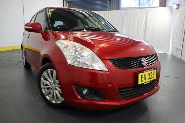 Used Suzuki Swift FZ RE2 Castle Hill, 2013 Suzuki Swift FZ RE2 Red/Black 4 Speed Automatic Hatchback