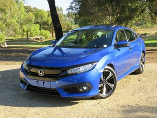 2016 Honda Civic 10th Gen MY16 RS Blue 1 Speed Constant Variable Sedan.