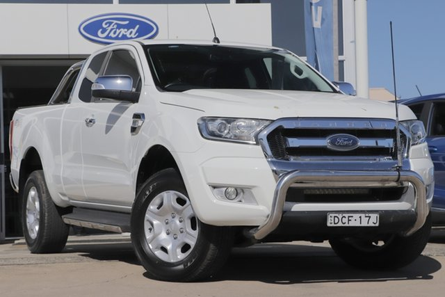 Used Ford Ranger PX MkII XLT Super Cab Beaudesert, 2016 Ford Ranger PX MkII XLT Super Cab White 6 Speed Sports Automatic Utility
