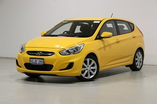 2017 Hyundai Accent RB5 Sport Yellow 6 Speed Automatic Hatchback.