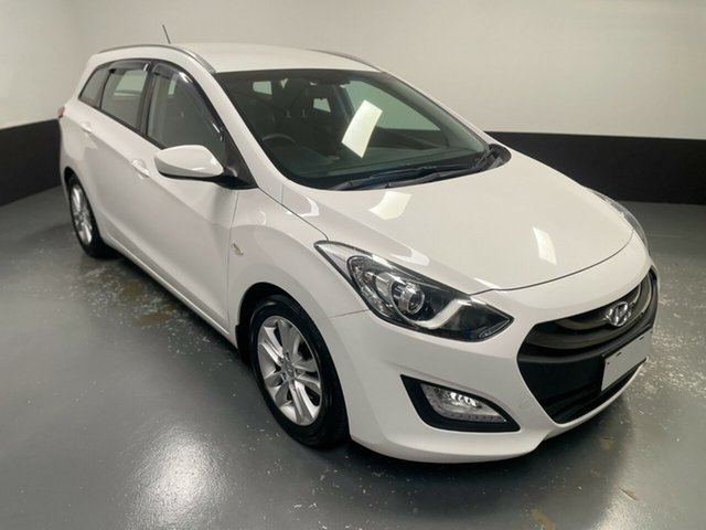 Used Hyundai i30 GD Active Tourer Hamilton, 2015 Hyundai i30 GD Active Tourer White 6 Speed Sports Automatic Wagon