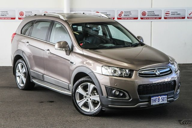 Pre-Owned Holden Captiva CG MY15 7 LTZ (AWD) Myaree, 2015 Holden Captiva CG MY15 7 LTZ (AWD) Beige 6 Speed Automatic Wagon