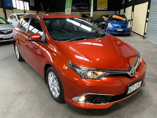 Used Toyota Corolla ZRE182R MY15 Ascent Sport Hampstead Gardens, 2016 Toyota Corolla ZRE182R MY15 Ascent Sport Orange 7 Speed CVT Auto Sequential Hatchback