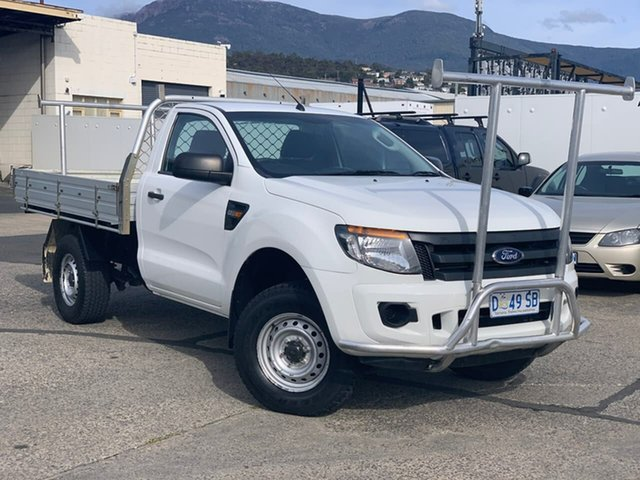 Used Ford Ranger PX XL Moonah, 2014 Ford Ranger PX XL White 6 Speed Manual Utility