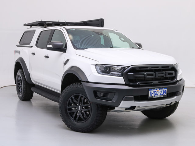 Used Ford Ranger PX MkIII MY19.75 Raptor 2.0 (4x4), 2019 Ford Ranger PX MkIII MY19.75 Raptor 2.0 (4x4) White 10 Speed Automatic Double Cab Pick Up