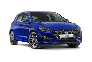 2020 Hyundai i30 PD.V4 MY21 Elite Blue 6 Speed Sports Automatic Hatchback