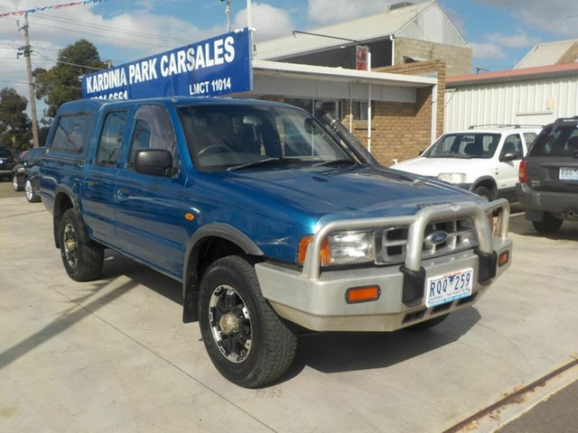 Used Ford Courier PE GL (4x4) Newtown, 2002 Ford Courier PE GL (4x4) Blue 5 Speed Manual 4x4 Cab Chassis