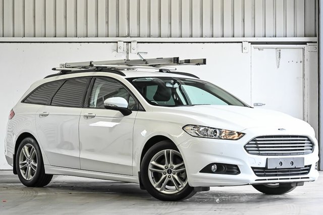 Used Ford Mondeo MD Ambiente Laverton North, 2016 Ford Mondeo MD Ambiente White 6 Speed Sports Automatic Dual Clutch Wagon