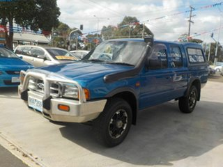2002 Ford Courier PE GL (4x4) Blue 5 Speed Manual 4x4 Cab Chassis.