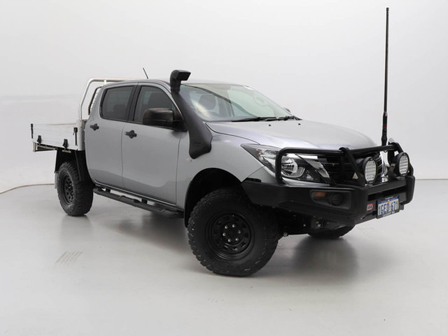Used Mazda BT-50 MY17 Update XT (4x4), 2018 Mazda BT-50 MY17 Update XT (4x4) Silver, Chrome 6 Speed Manual Dual Cab Utility