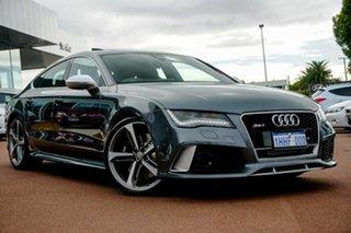 2014 Audi RS 7 4G MY14 Sportback Tiptronic Quattro Grey 8 Speed Sports Automatic Hatchback.