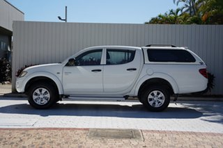 2012 Mitsubishi Triton MN MY12 GL-R Club Cab White 5 Speed Manual Utility