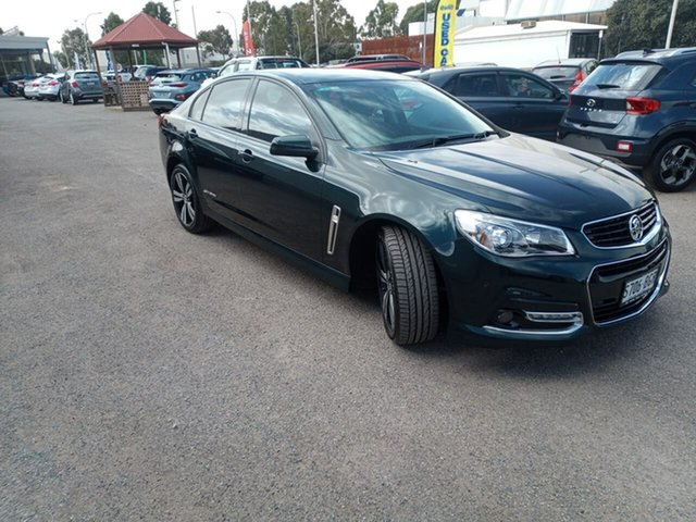 Used Holden Commodore VF MY15 SV6 Storm Elizabeth, 2015 Holden Commodore VF MY15 SV6 Storm Green 6 Speed Sports Automatic Sedan