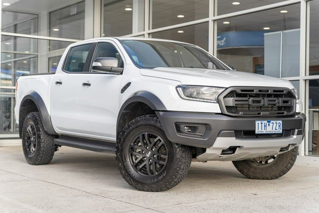 Used Ford Ranger PX MkIII 2019.00MY Raptor Ferntree Gully, 2018 Ford Ranger PX MkIII 2019.00MY Raptor White 10 Speed Sports Automatic Utility