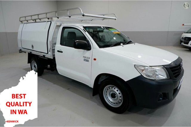 Used Toyota Hilux TGN16R MY14 Workmate 4x2 Kenwick, 2014 Toyota Hilux TGN16R MY14 Workmate 4x2 White 5 Speed Manual Cab Chassis