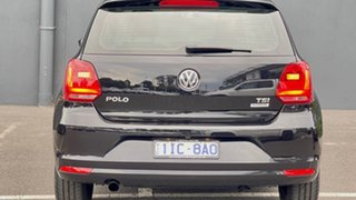 2016 Volkswagen Polo 6R MY16 66TSI DSG Trendline Black 7 Speed Sports Automatic Dual Clutch