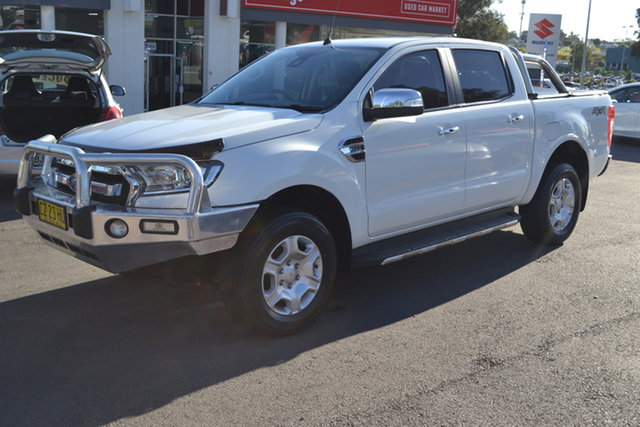 Used Ford Ranger PX MkII XLT Double Cab Maitland, 2016 Ford Ranger PX MkII XLT Double Cab White 6 Speed Sports Automatic Utility