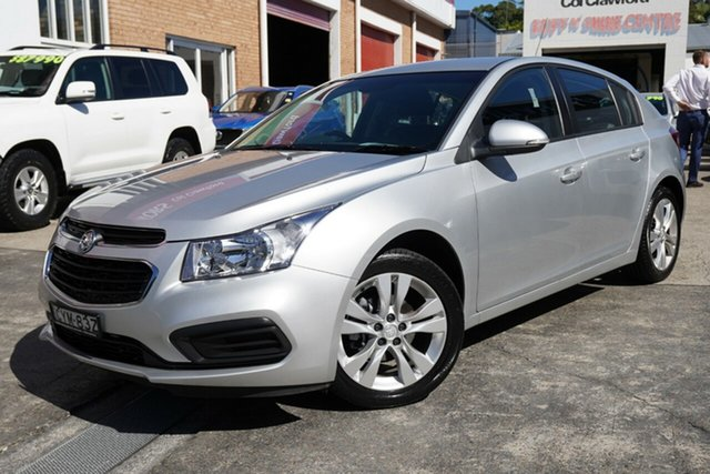 Used Holden Cruze JH Series II MY15 Equipe Narrabeen, 2015 Holden Cruze JH Series II MY15 Equipe Silver 6 Speed Sports Automatic Hatchback