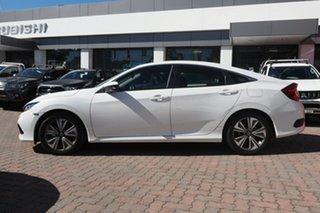 2020 Honda Civic 10th Gen MY20 VTi-L White 1 Speed Constant Variable Hatchback