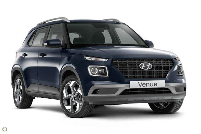Demo Hyundai Venue QX.V3 MY21 Active Oakleigh, 2021 Hyundai Venue QX.V3 MY21 Active Blue 6 Speed Automatic Wagon