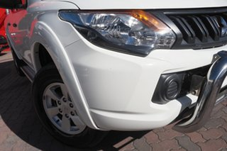 2017 Mitsubishi Triton MQ MY17 GLX+ Double Cab White 5 Speed Sports Automatic Utility.