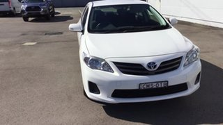 2012 Toyota Corolla ZRE152R MY11 Ascent White 4 Speed Automatic Sedan.