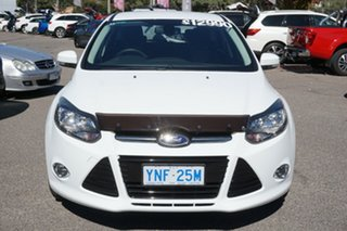2014 Ford Focus LW MkII MY14 Sport White 5 Speed Manual Hatchback.