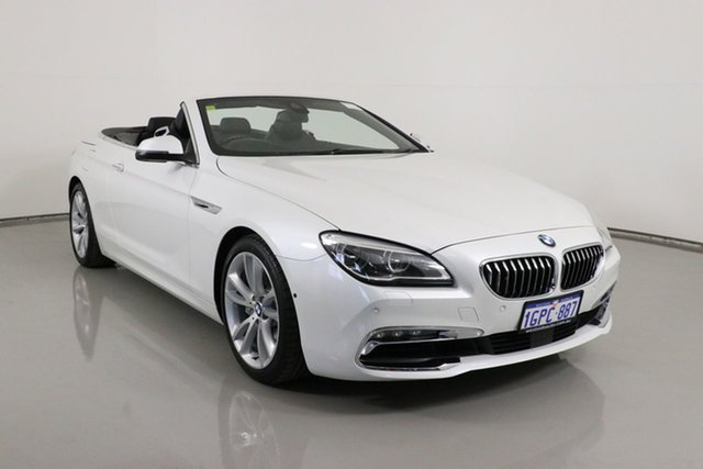 Used BMW 640i F12 LCI Bentley, 2017 BMW 640i F12 LCI White 8 Speed Automatic Convertible