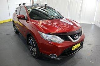 2014 Nissan Qashqai J11 TL Red 1 Speed Constant Variable Wagon.