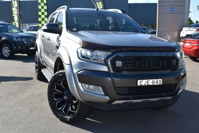 Used Ford Ranger PX MkII Wildtrak Double Cab Tuggerah, 2016 Ford Ranger PX MkII Wildtrak Double Cab Grey 6 Speed Sports Automatic Utility
