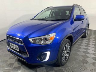2016 Mitsubishi ASX XB MY15.5 LS 2WD Lightning Blue 5 Speed Manual Wagon.