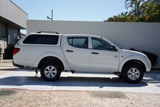 2012 Mitsubishi Triton MN MY12 GL-R Club Cab White 5 Speed Manual Utility.