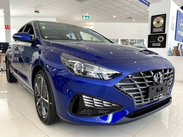 New Hyundai i30 PD.V4 MY21 Active Springwood, 2021 Hyundai i30 PD.V4 MY21 Active Intense Blue 6 Speed Sports Automatic Hatchback