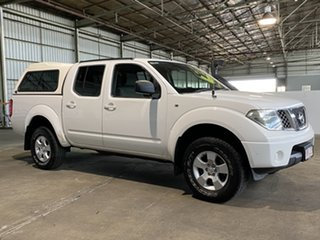 2009 Nissan Navara D40 ST-X White 6 Speed Manual Utility.