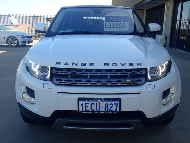 Used Land Rover Range Rover Evoque SD4 Wangara, Land Rover Range Rover Evoque SD4 Polar White & Black Roof 8 Speed Automatic Wagon