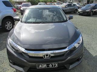 2017 Honda Civic 10th Gen MY17 VTi-LX Grey 1 Speed Constant Variable Sedan.