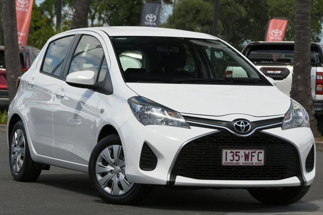 Used Toyota Yaris NCP130R Ascent North Lakes, 2015 Toyota Yaris NCP130R Ascent White 5 Speed Manual Hatchback
