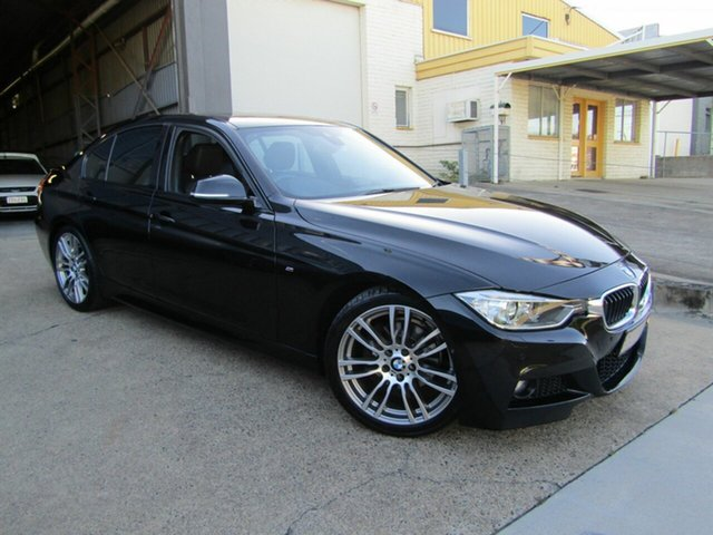 Used BMW 3 Series F30 LCI 320d M Sport Moorooka, 2015 BMW 3 Series F30 LCI 320d M Sport Black 8 Speed Sports Automatic Sedan