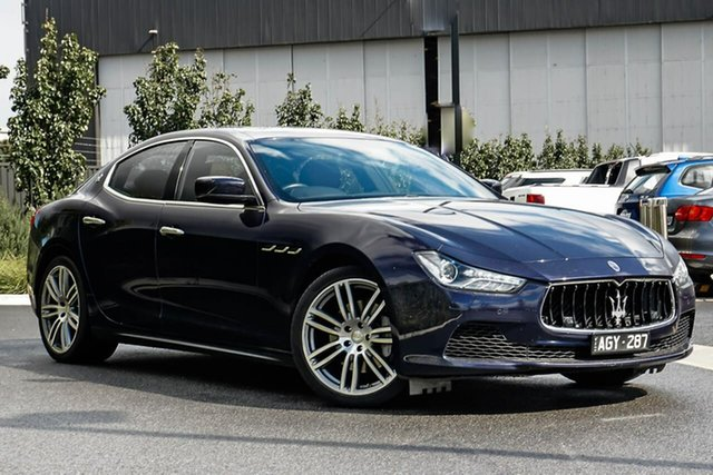 Used Maserati Ghibli M157 MY15 Essendon Fields, 2015 Maserati Ghibli M157 MY15 Blue 8 Speed Sports Automatic Sedan