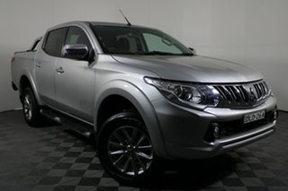 2016 Mitsubishi Triton MQ MY16 GLS Double Cab Sterling Silver 6 Speed Manual Utility.