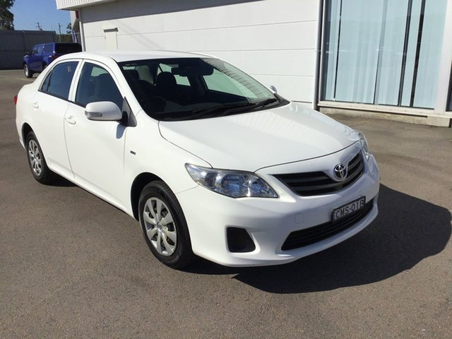 Used Toyota Corolla ZRE152R MY11 Ascent Cardiff, 2012 Toyota Corolla ZRE152R MY11 Ascent White 4 Speed Automatic Sedan