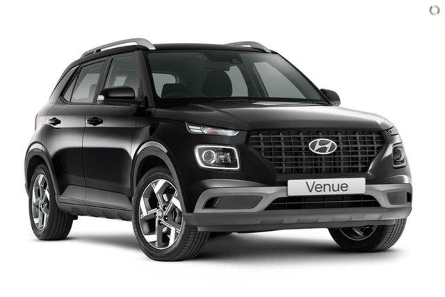 New Hyundai Venue QX.V3 MY21 Active Oakleigh, 2021 Hyundai Venue QX.V3 MY21 Active Black 6 Speed Automatic Wagon