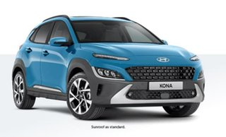2020 Hyundai Kona Os.v4 MY21 Highlander 2WD Blue 8 Speed Constant Variable Wagon